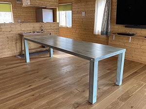 大きなダイニングテーブルをアンティーク調に塗装リメイク アイキャッチ
