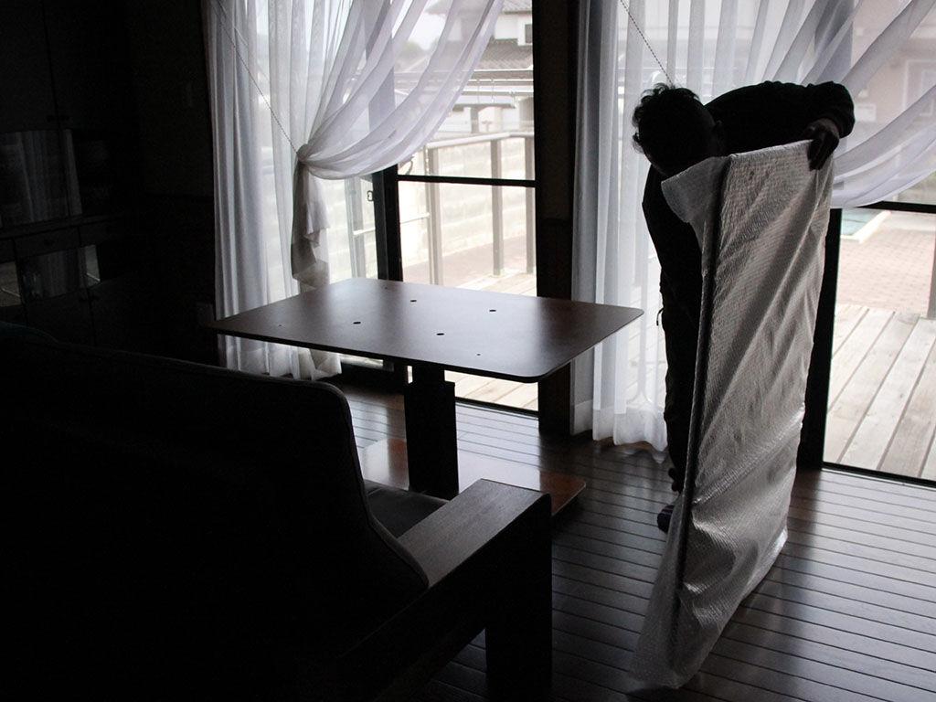 綺麗にレストアさせていただいたテーブル天板の納品