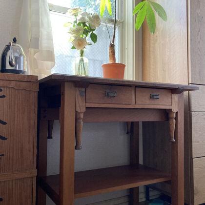 お客様から頂いた、リメイク家具納品後のお写真