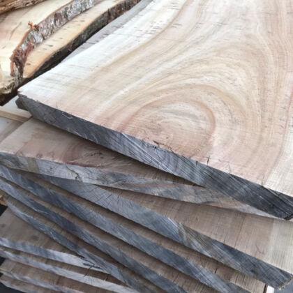 緻密で丈夫な広葉樹の木材