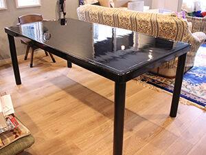 料亭の座卓をご自宅用ダイニングテーブルにリメイク アイキャッチ
