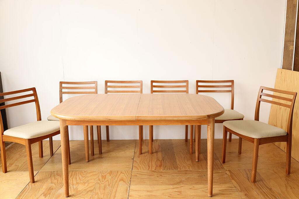 伸縮式ダイニングテーブルをリサイズ&美装