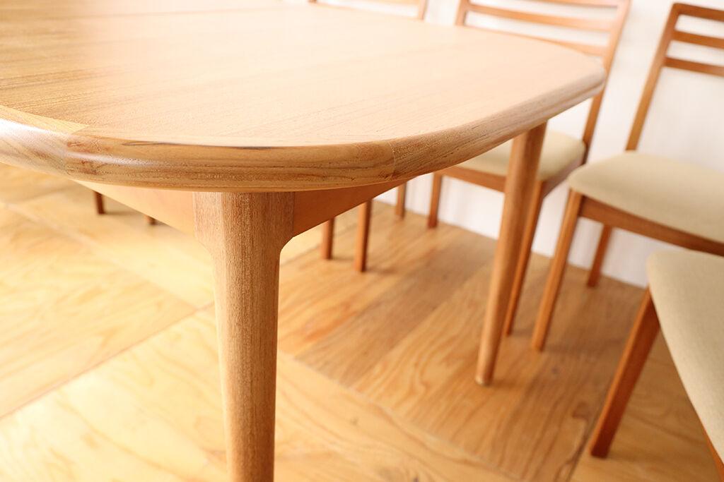 伸縮機能を残してリサイズしたダイニングテーブル
