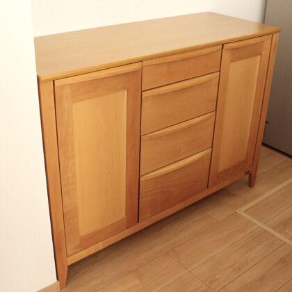 食器棚の高さをリサイズしてお客様のご新居に納品
