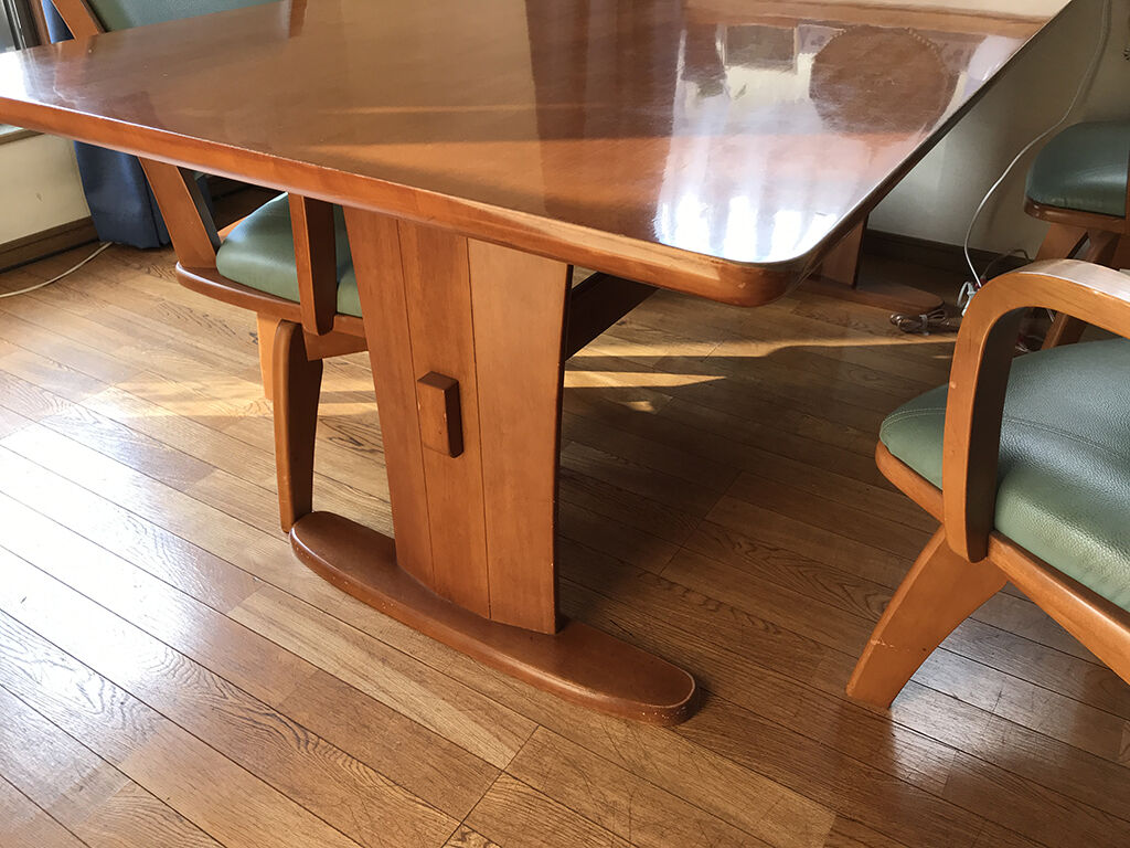 長方形テーブルから円形テーブルにリメイクするお打ち合わせ