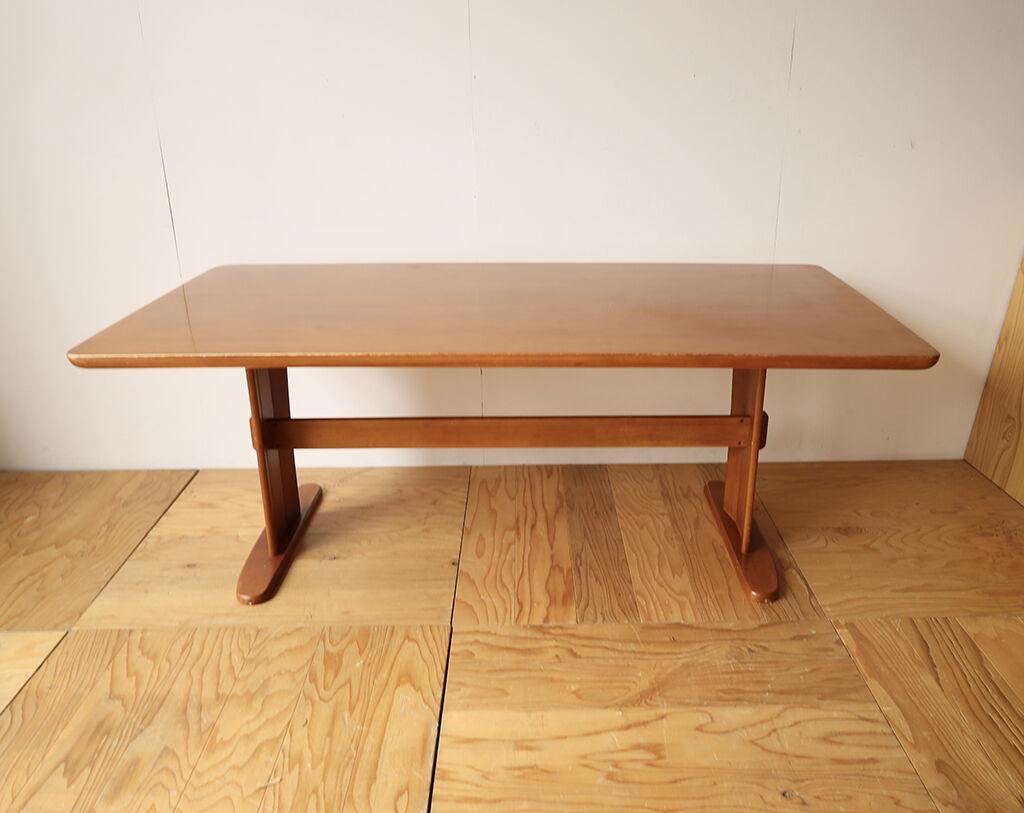円形テーブルへのリメイクのご相談をいただいた長方形テーブル
