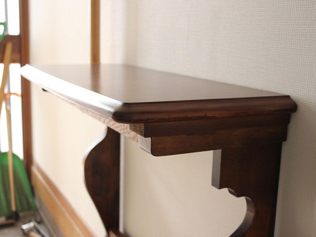 玄関先に納品させていただいたコンソールテーブル