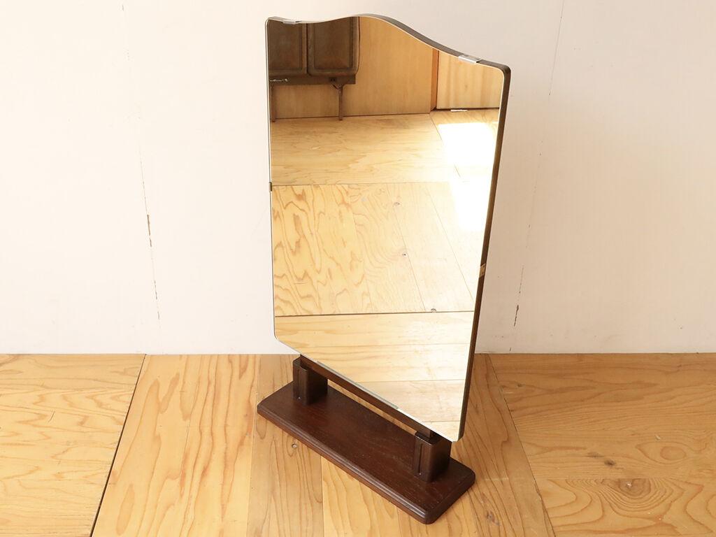 鏡台の鏡に合わせて台座を製作し卓上ミラーにリメイク