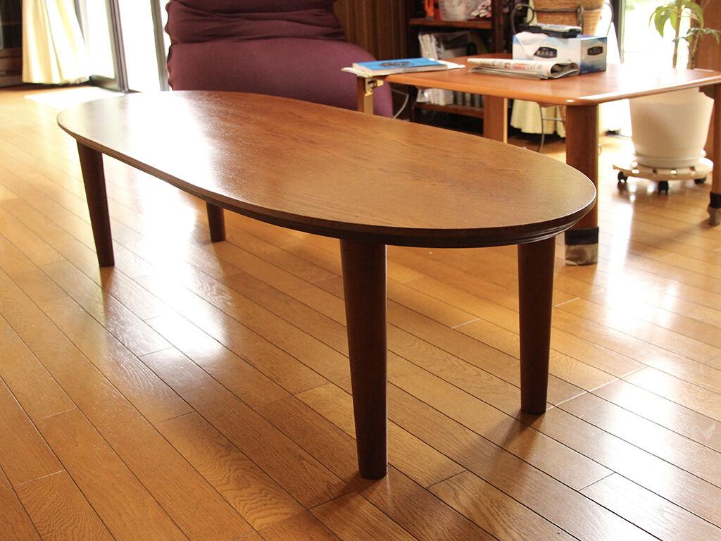 お客様のお家のリビングに納品した洋服タンスからリメイクした座卓