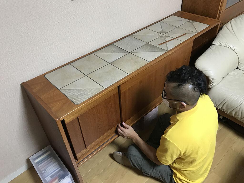 家具の仕様を確認しながらどのようにリサイズするかお打ち合わせ