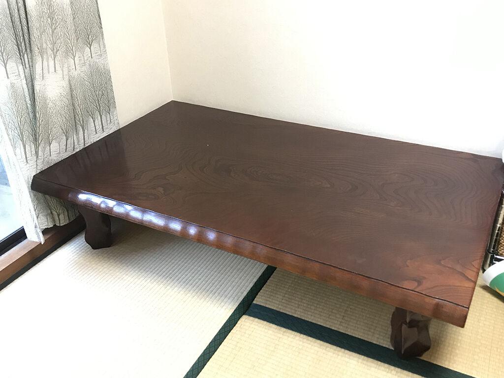 天板サイズを一回り小さくリメイクしたいとご相談いただいた座卓