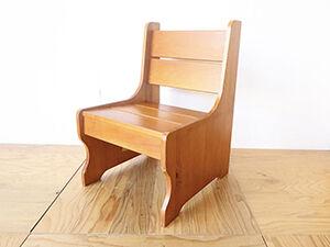 パインのベンチを椅子型飾り棚にリメイク アイキャッチ