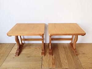 パインのダイニングテーブルを2台のデスクにリメイク アイキャッチ