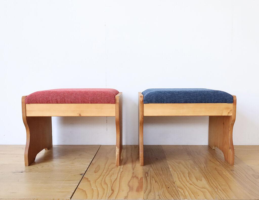 複層構造のクッションで極上な座り心地のスツール