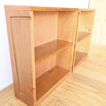 ベンチの部材を生かしてリメイクした本棚