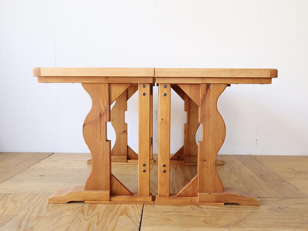 ダイニングテーブルの脚を分割して
