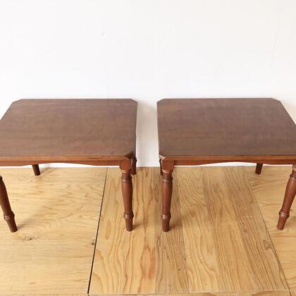 和風のカエデの座卓からリメイクした2台のアンティーク風コーヒーテーブル