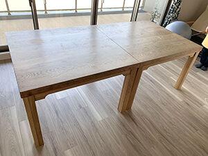 ダイニングテーブルを2台に分割リメイク アイキャッチ