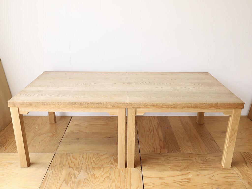 W2090×D1000のダイニングテーブルをW1040×D1000のテーブル2台にリメイク