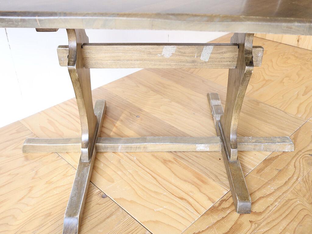 割れなどもあったダイニングテーブルの脚フレーム