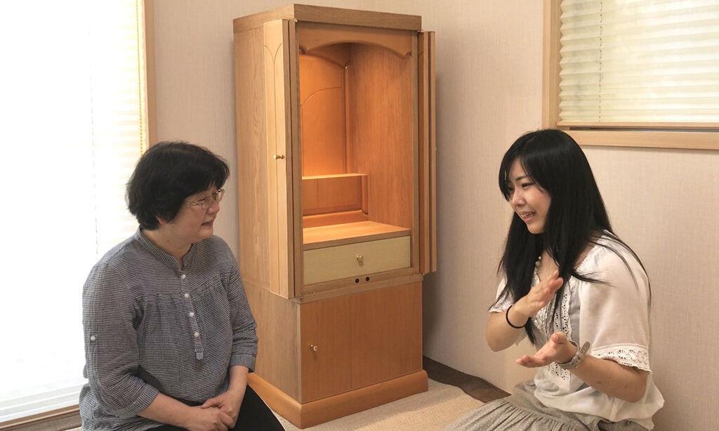 納品時のインタビュー中に家具にまつわるお客様のお話をお聞きして涙が止まらない