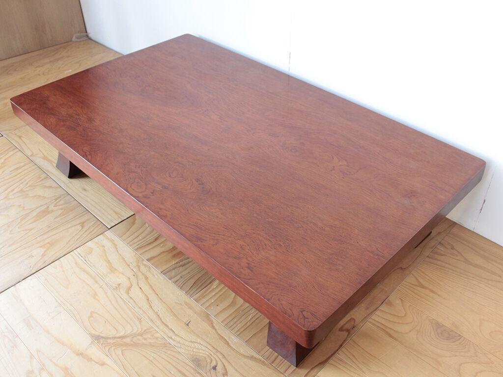 テレビ台とワーキングデスクへのリメイクをご希望いただいた無垢ブビンガの座卓