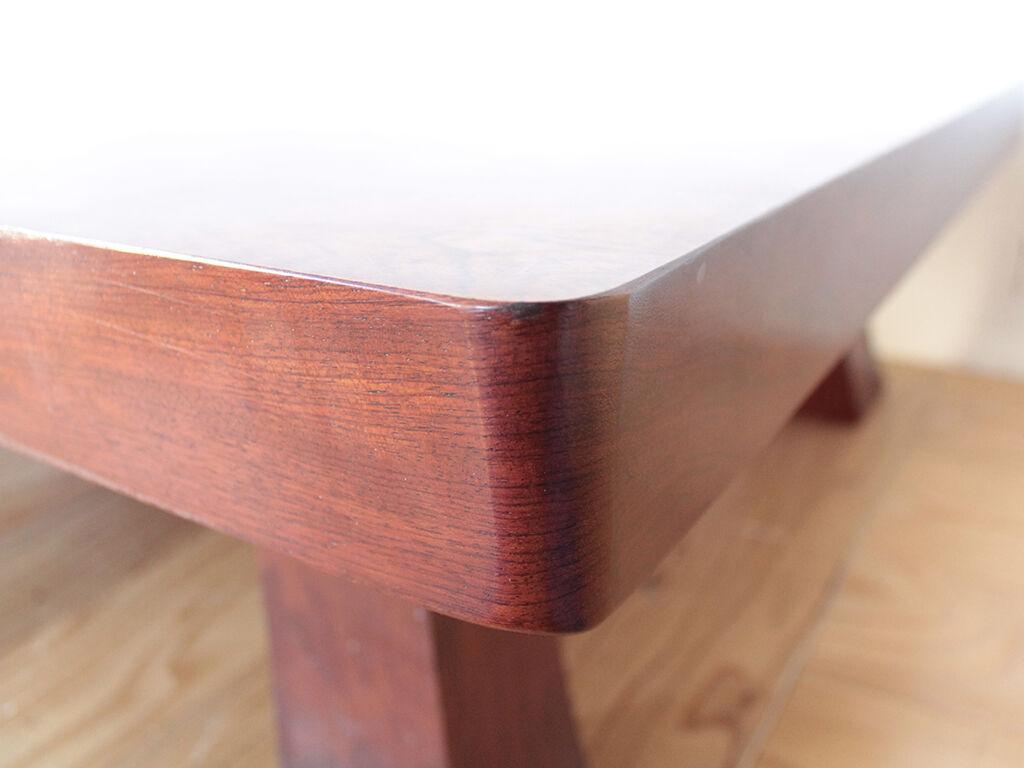 厚み7cmあった無垢ブビンガの座卓天板