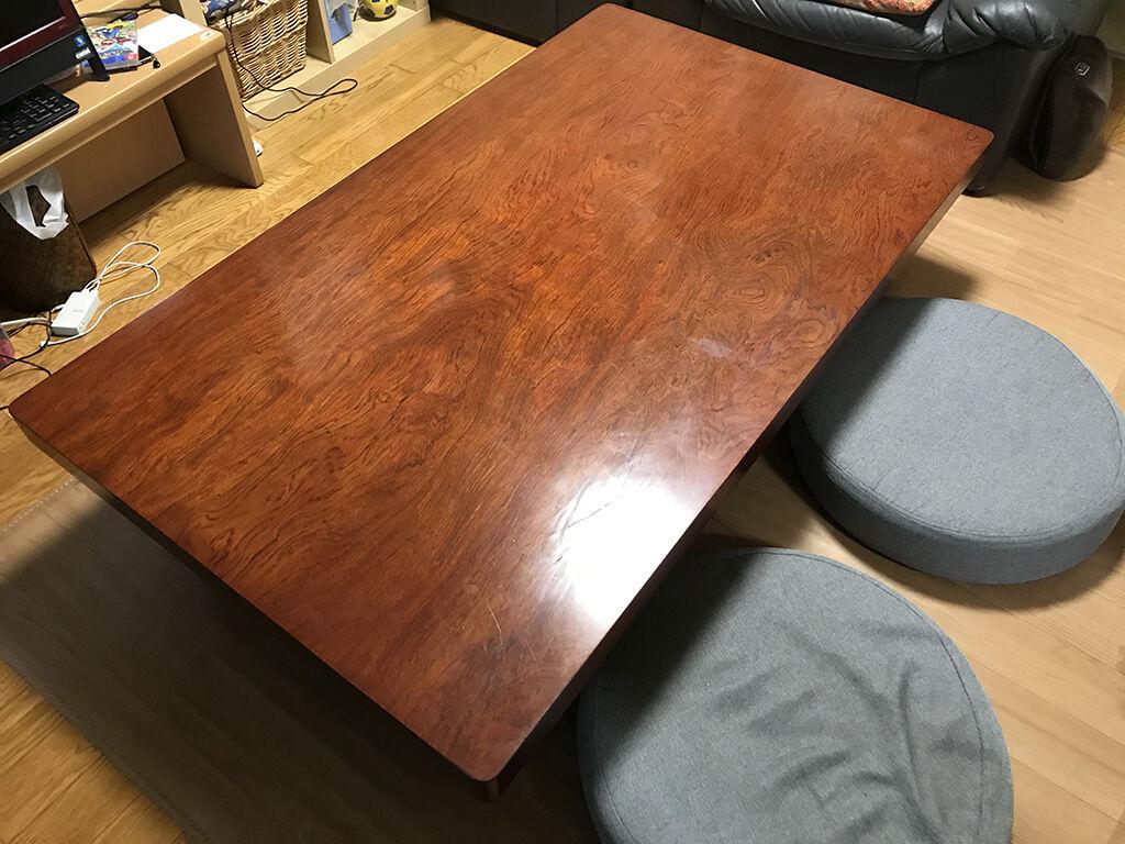 お客様からリメイクのご相談をいただいた無垢ブビンガの座卓