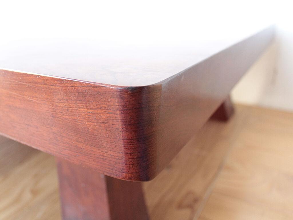 天板の厚みが7cmあった無垢ブビンガの座卓