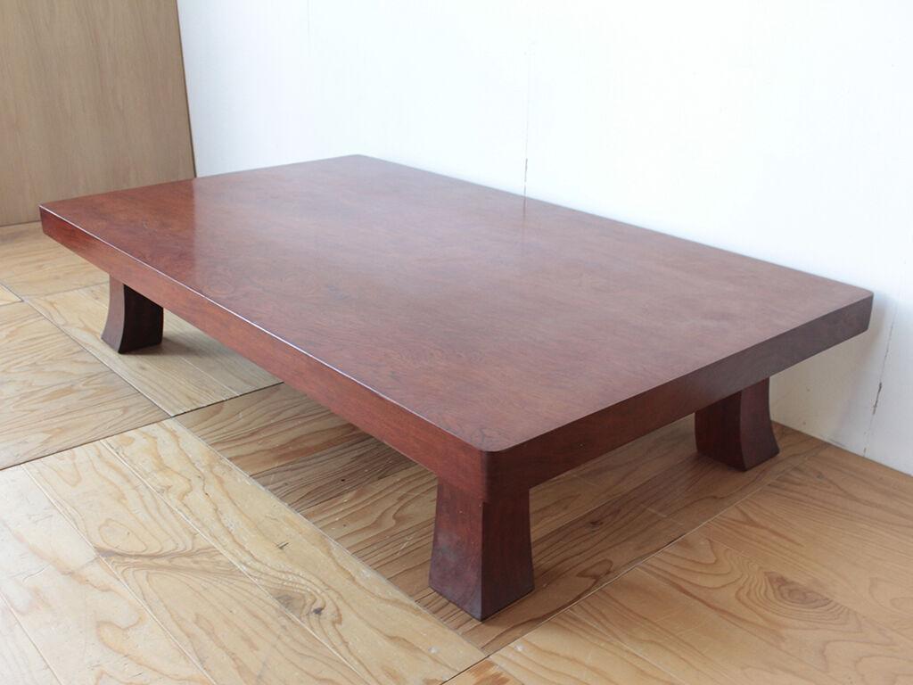 天板をスライスしてオープンタイプのテレビ台にリメイクすることになった無垢ブビンガの座卓