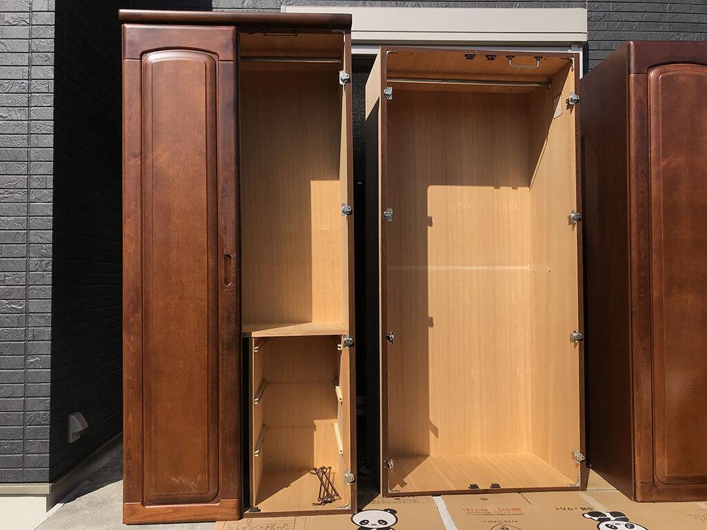 リメイクのご依頼をいただいた2枚扉と3枚扉の洋服タンス