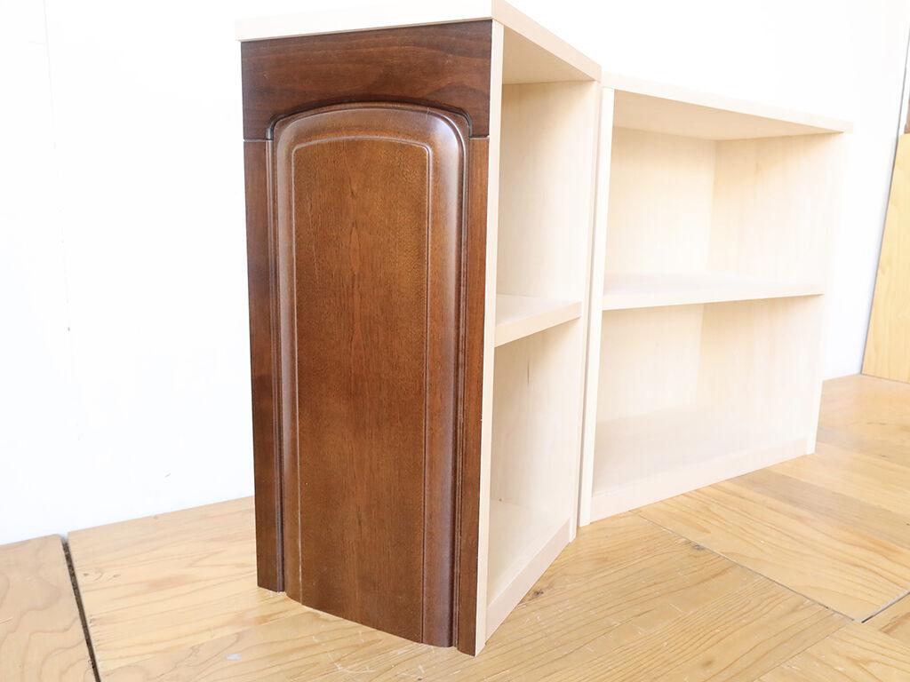 別々にもくっつけても使うことのできるユニット式オープン棚